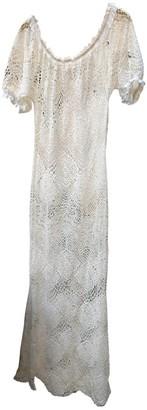 Non Signã© / Unsigned Non SignA / Unsigned Manche ballon White Lace Dresses