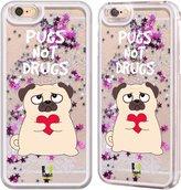 Head Case Designs Piper The Pug Silver Liquid Glitter Case Cover for
