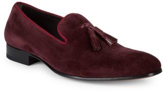 Mezlan Velvet Tassel Loafers