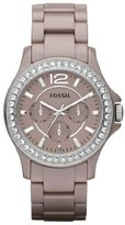 Fossil Riley CE1063 Women's Wrist Watches, Pink Dial