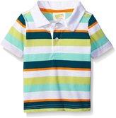 Crazy 8 Little Boys' Baby Green Striped Polo Shirt