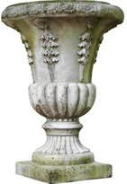 Orlandi Statuary OrlandiStatuary Cast Stone Urn Planter Drain Opening: No
