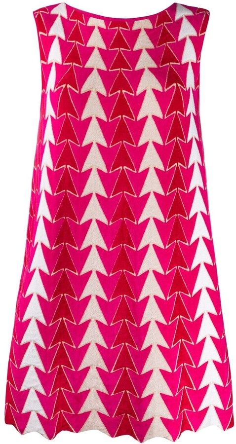 Valenti Antonino arrow pattern dress