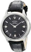 Rotary Men's gs02965/04/22 Analog Display Swiss Quartz Black Watch
