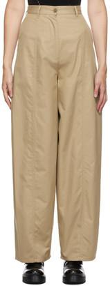 MM6 MAISON MARGIELA Beige Wide-Leg Trousers