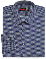 Jf J.Ferrar Easy-Care Stretch Long Sleeve Broadcloth Diamond Dress Shirt - Slim