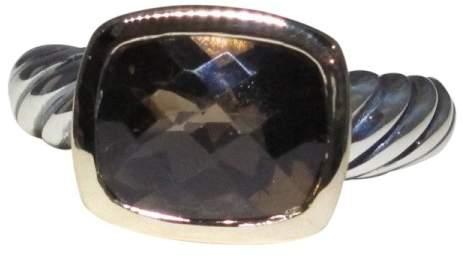 David Yurman Noblesse 18K Gold & Sterling Silver Smoky Quartz Ring Size 6.0