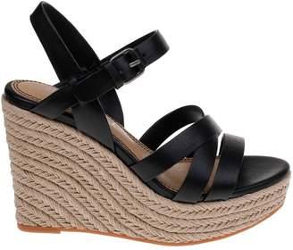 Splendid Billie Leather Espadrille Wedge Sandals