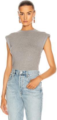 RtA Kairi Foam Sleeve T-Shirt in Heather Grey | FWRD