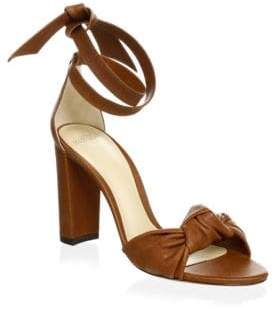 Alexandre Birman Kace Leather Block Heel Sandals