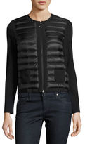Moncler Maglia Tricot Quilted Jacket