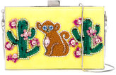 Gedebe - cactus and monkey clutch - women - metal - One Size