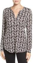 NYDJ Petite Women's Henley Knit Top