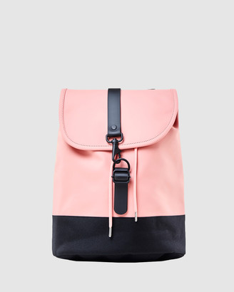 Rains Women's Pink Bags - Drawstring Backpack - Size One Size at The Iconic