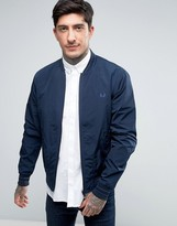 Fred Perry Tramline Bomber Jacket In Navy