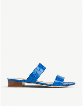LK Bennett Eveleen croc-effect leather sliders