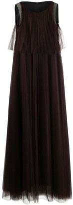 Fabiana Filippi Sleeveless Flared Maxi Dress