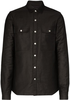 Rick Owens Button-Down Shirt Jacket