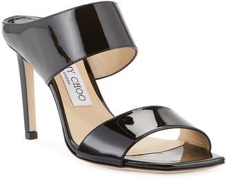 Jimmy Choo Hira Patent Slide Sandals