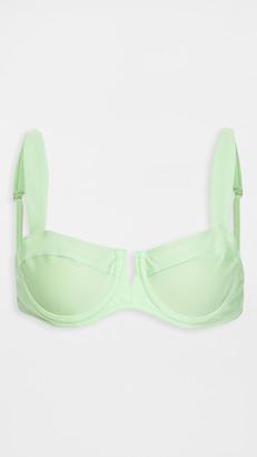 Shani Shemer Apple Green Wired Bralette