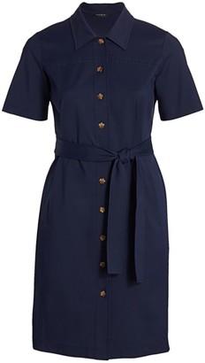 Lafayette 148 New York, Plus Size Kylie Short-Sleeve Button-Front Dress
