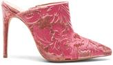 Alexandre Birman Velvet Regina Mules in Floral,Pink.
