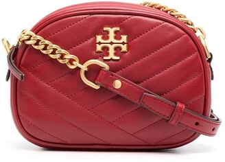 Tory Burch Quilted Chevron Leather Crossbody Bag