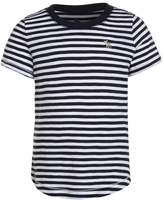 Abercrombie & Fitch Print Tshirt navy/white