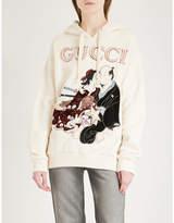 Gucci Logo print cotton-jersey hoody