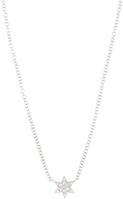 Ron Hami Pave Diamond Star of David Pendant Necklace