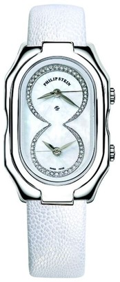 Philip Stein Teslar Philip Stein11-idw PPWLadies WatchAnalogue QuartzMother of Pearl DialWhite Leather Bracelet