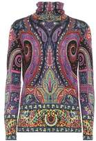 Etro Printed wool-blend shirt