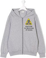 Fendi chest patch zip hoodie