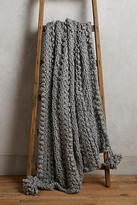 Anthropologie Hand-Knit Sweater Throw Blanket