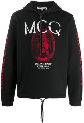 McQ Drone printed hoodie