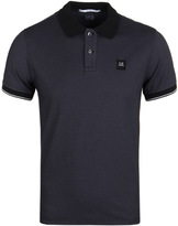 Cp Company Black Tacting Short Sleeve Polo Shirt