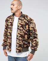 The New County Camo Teddy Bomber Jacket