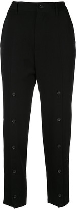 Yohji Yamamoto High Rise Slim-Fit Trousers