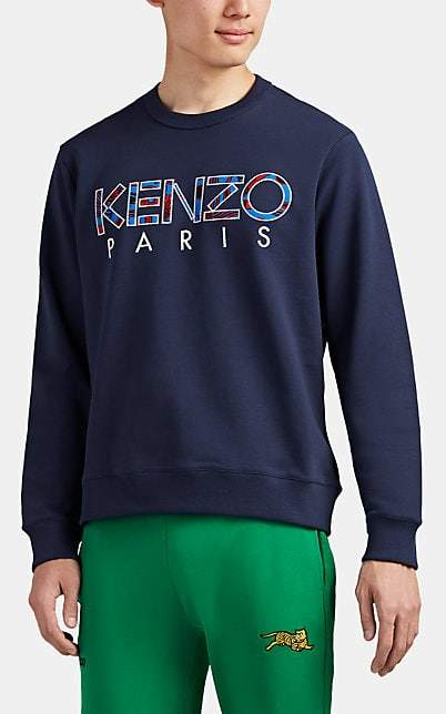 Kenzo Men's Logo Cotton French Terry Sweatshirt - Navy