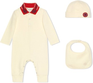 Gucci Kids Knitted Romper Set