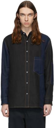 Loewe Navy Patchwork Shirt