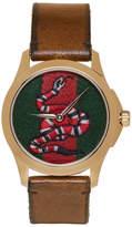 Gucci Gold Medium G-Timeless Snake Watch