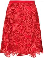 Christopher Kane embroidered heart appliqué skirt - women - Silk/Polyamide/Polyester/Acetate - 8