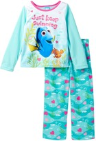 AME Finding Dory Just Keep Swimming Fleece PJ Set (Little Girls & Big Girls)