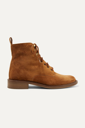 Vince Cabria-3 Shearling-trimmed Suede Ankle Boots - Tan
