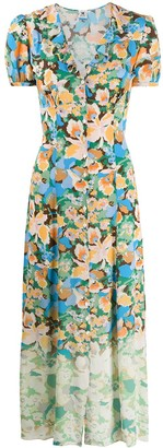 M Missoni Floral-Print Button-Through Dress