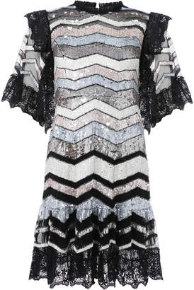 Needle & Thread Alaska Sequin Mini Dress