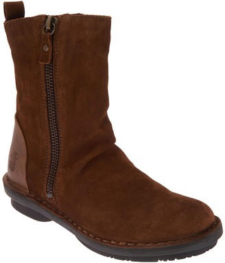 Fly London Leather Suede Mid Boots - Fade