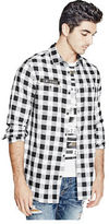 G by Guess GByGUESS Men's Vertix Long-Sleeve Check Shirt