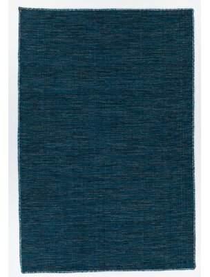 "Blue Area Bloomsbury Market Dario Reversible Handwoven Flatweave Cotton Rug Bloomsbury Market Rug Size: Rectangle 7'9"" x 10'6"""